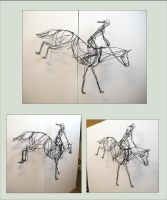 Horse Jump - 3d wire sculpture by akuinnen24