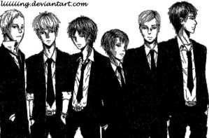 Shingeki no Kyojin in SUITS by Liiiiiing