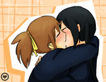 UiAzu Kiss -Colored- by HihanaHotaru