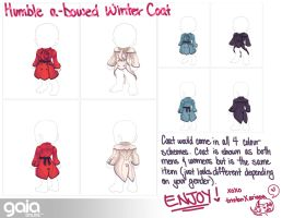 Humble a-bowed Winter coat for GAIA ONLINE by nomers-sushi