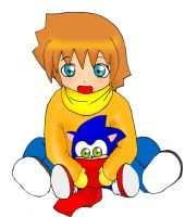lil chris and a baby sonic by tatsuhaxryuichi