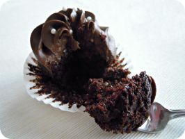 Chocolate Cupcakes with Avocado Frosting by cake4thought