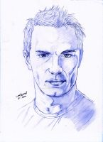 Sam Witwer pencil portrait by StevenWilcox