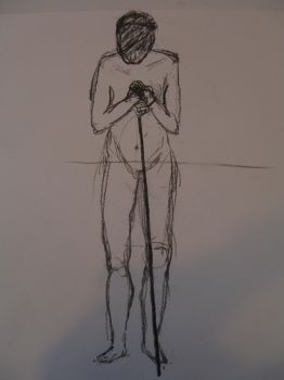Figure drawing of a young woman 03 by R4VI4TOR