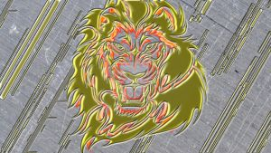 gold fire lion 1 by saveloy1