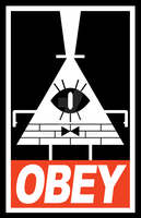 OBEY Bill Cipher by calfrills