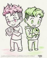 Commission - Markiplier and Jacksepticeye by DeanGrayson