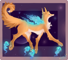 Space Traveler Fox by Lyitsifa