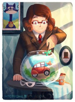 Desmond Sycamore and the Laytonmobile by MTerrenal