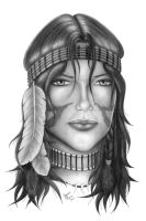 Indian Girl by Geison