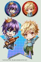 +Noragami - Yukine and Yato keychains+ by goku-no-baka