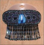 Blue barrette by GoodQuillHunting