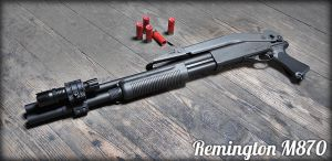 Remington M870 by JackTheLateRiser