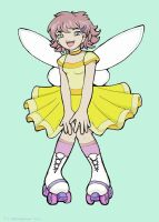 Bubblegum Roller Disco Fairy by StressedJenny