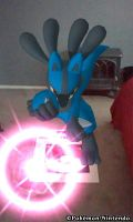 Lucario uses aura sphere by nightandkai