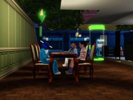 Sims 3 - Denise finished her homework by Magic-Kristina-KW