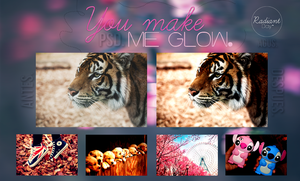 You make me glow PSD    Agus. by RadiantDay