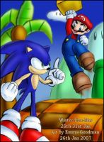 Winter-Een-Mas: Sonic vs Mario by o0NeonCola0o