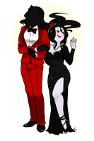 Black And Red by MaryLittleRose