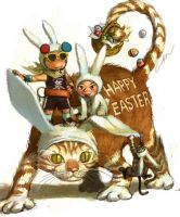 happy easter by cuson