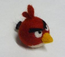 Needle Felted Red Angry Bird by Jadest