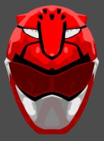Vector Helmet: Red GO BUSTERS by maddaluther