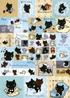 black kitten collage by tristan19019