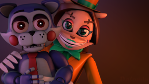 [FNAF SFM]-Wallpaper Netty and adventure Candy by Dafomin