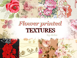 Flower printed textures by deliasworks