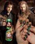 Fili and Kili Nail Art by Nippip