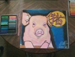 Chinese Zodiac - The Pig by Konack1