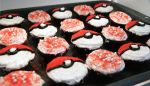 Pokeball cupcakes by janelleLOVESudon