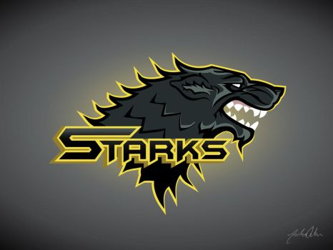 Game of Thrones Stark sportslogo by BuiltToFail