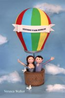 flying in a balloon by Verusca