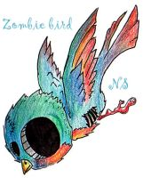Zombie bird by isnevertimeatall