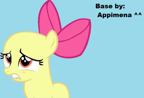 MLP Base: Worried Filly by Appimena