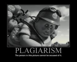 Plagiarism Motivational Poster by QuantumInnovator