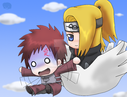 Naruto+Yaoi+Chibis: DeiGaa? by The-PirateQueen