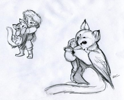 Owl Griffin Role Reversal by RobtheDoodler