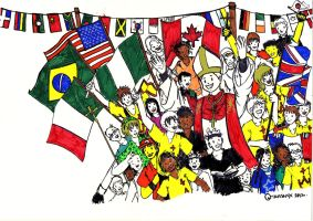 World Youth Day 2011 Bookcover (Work in Progress) by troisnyxetienne
