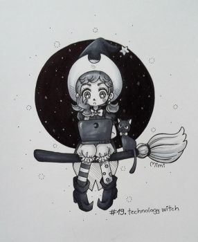 .day19: technology witch by mimiclothing
