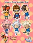 Ina11 - Keychain Set 1 by ForkFingers