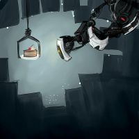 GlaDOS and the Cake by efercussie