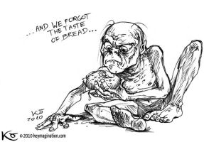 Gollum and Hamburger 2010 by Keymagination