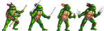 Teenage Mutant Ninja Turtles Sprites by Nighteba