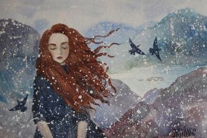 wind and snow by AnnWeaver