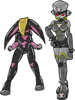 Robot Duo by Chaoscroc by singory