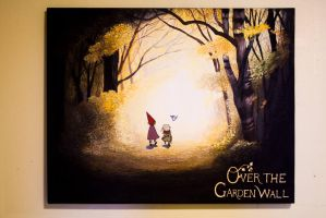 Over The Garden Wall Painting by Gwendolynn13