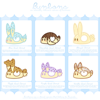 [CLOSED] Bunbon Adoptables - Set 10 *THEMED SET* by Kiwicide