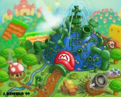 Mario Attraction Exterior by jkenfield
